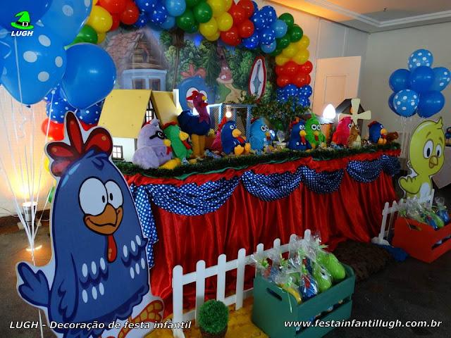 Decoração de mesa de aniversário Galinha Pintadinha