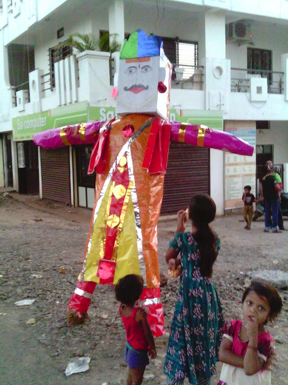 अश्विन त्रिवेदी द्वारा रावण दहन jhabua-dashehra