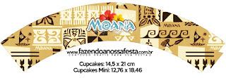 Moana Free Printable Cupcake Wrappers.