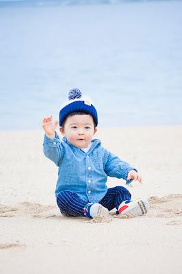 沖縄 家族写真 海