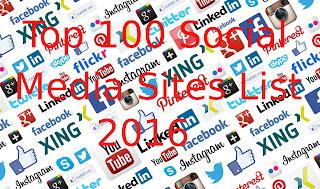 Top 100 Social Media Sites 2016