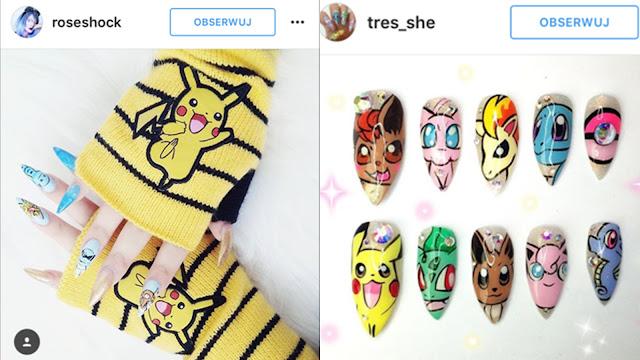 zdobienia paznokci z pokemonami