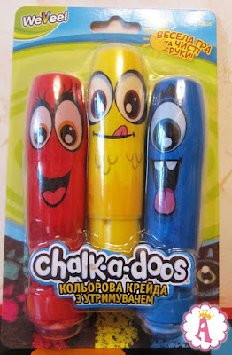 Обзор мелков для рисования WeVeel Scentos Chalk-a-doos