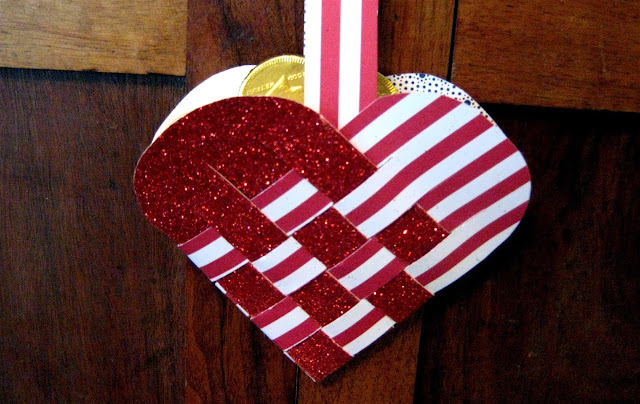 Woven Heart Basket Mother's Day Crafts Ideas