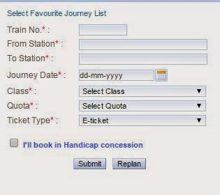 irctc quick book option for ticket booking
