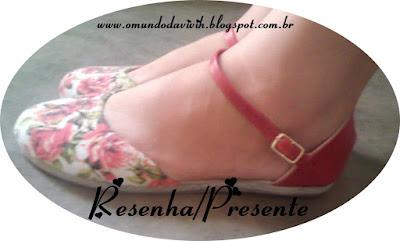 Resenha/Presente: Sandália Evânia Fashion