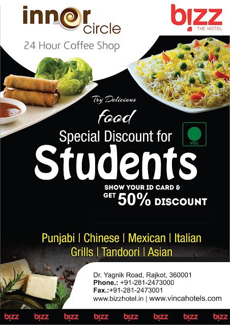 Special Discount For Students at Bizz Hotel Rajkot