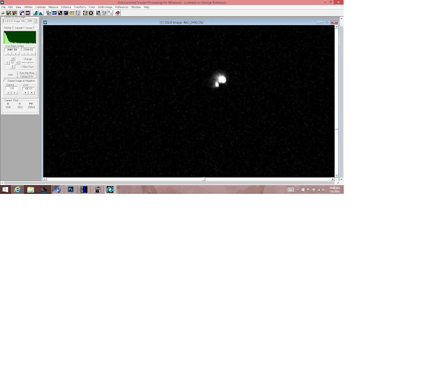 AIP4WIN screenshot showing binary star Mizar (Source: Palmia Observatory)