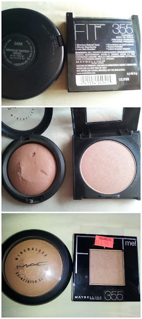 M.A.C vs Maybelline powder www.modenmakeup.com