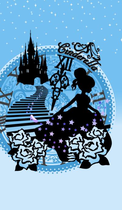 Cinderella Silhouette Blue01