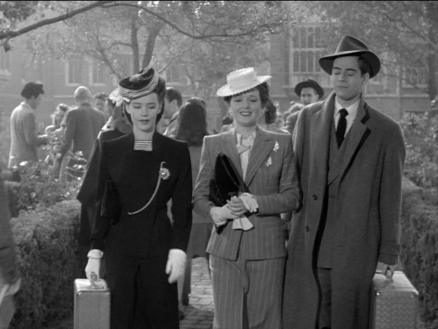 Susan Peters, Mary Astor and Elliott Reed at college.