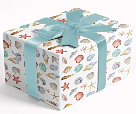 Beach Seashell Gift Wrapping Paper