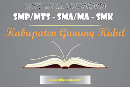 HASIL UN SMK Kabupaten Gunung Kidul Tahun 2015 – 2017