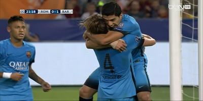 UEFA Group E : Roma 1 vs 1 Barcelona 16-09-2015