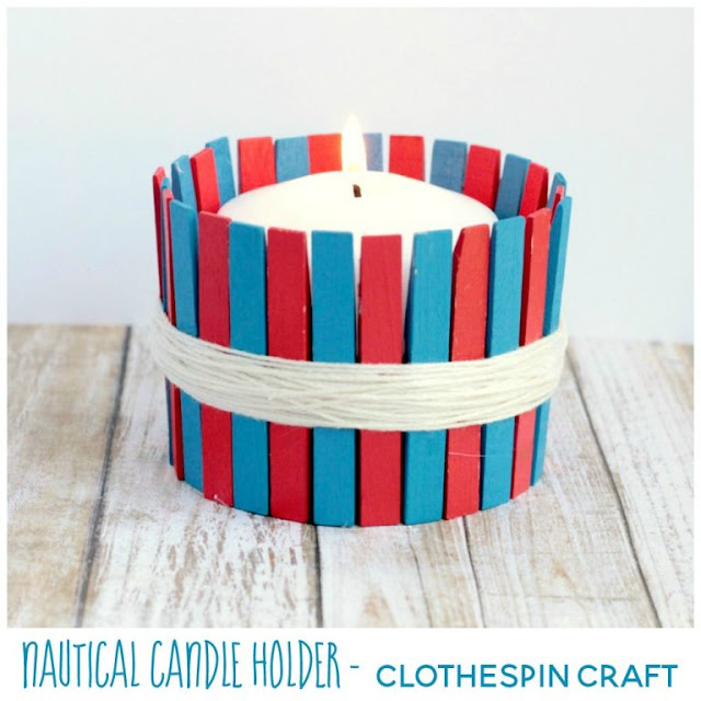 Clothespin Candle Holder Craft