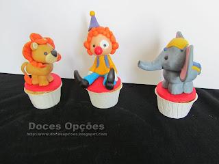 cupcakes circo palhaço leo elefante