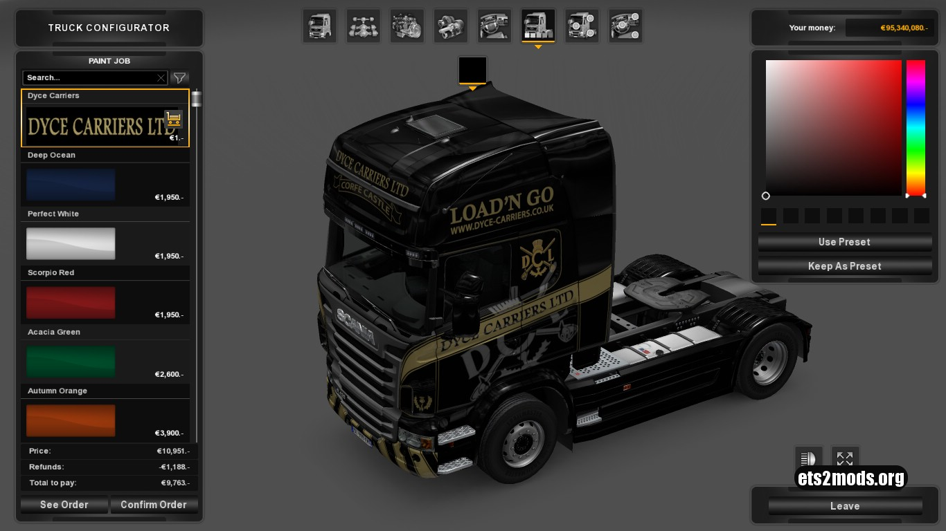 Dyce Carriers Skin for Scania R