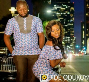 See Nigerian groom checking out his bride's butt in their pre-wedding photo