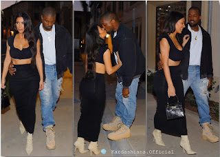 Kim Kardashian and her man, Kenya West kiss passionately in public