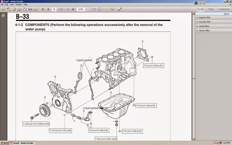 KP Gasket: Daihatsu JBJL and JBDET engine, bottom part