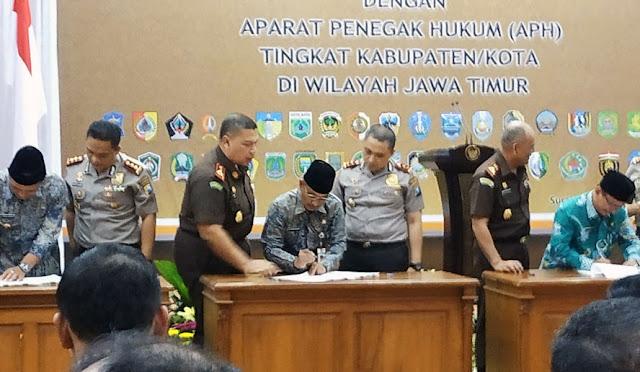 Gawat saat menghadiri penandatanganan kerjasama APIP dan APH