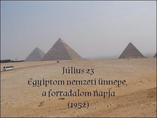 Július 23 - Egyiptom nemzeti ünnepe