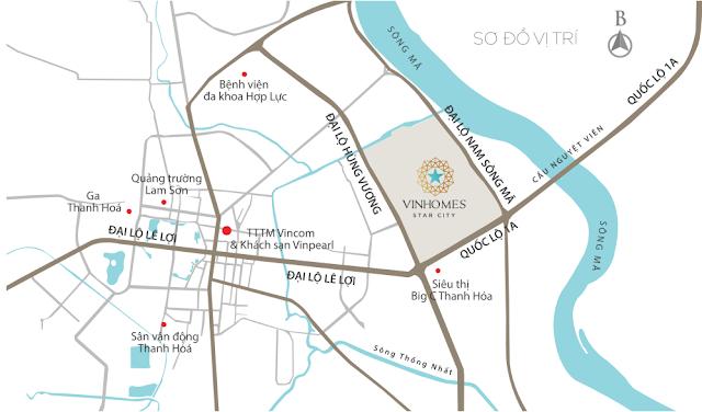 Vị trí Vinhomes Star City Thanh Hóa