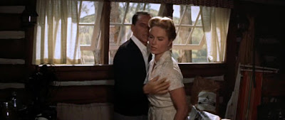 Martha Hyery Frank Sinatra en Como un torrente (1958)