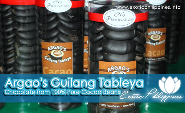 Argao's Guilang Tableya - Chocolate from 100% Pure Cacao Beans