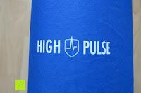 Aufdruck: High Pulse Akupressur-Set - Akupressurmatte & Akupressurkissen für eine einfache und wirksame Behandlung von Schmerzen und Verspannungen am ganzen Körper. (Blau)