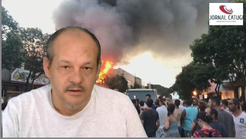 Incêndio destrói prédio de loja de móveis em Marialva; veja vídeo