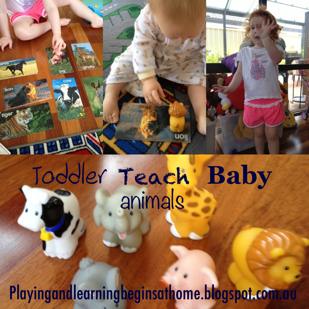 Playing And Learning Begins At Home Toddler Teach Baby