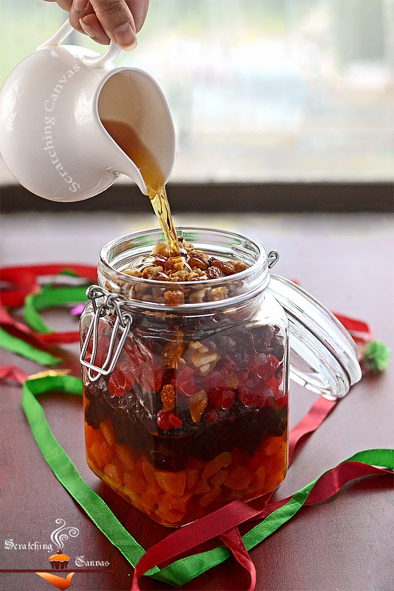 Soak Dry Fruits For Christmas Fruitcake