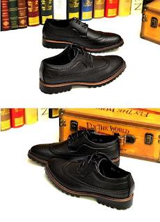 Sepatu Pantofel Pria Warna Hitam Model Korea Terbaru Mei 2016
