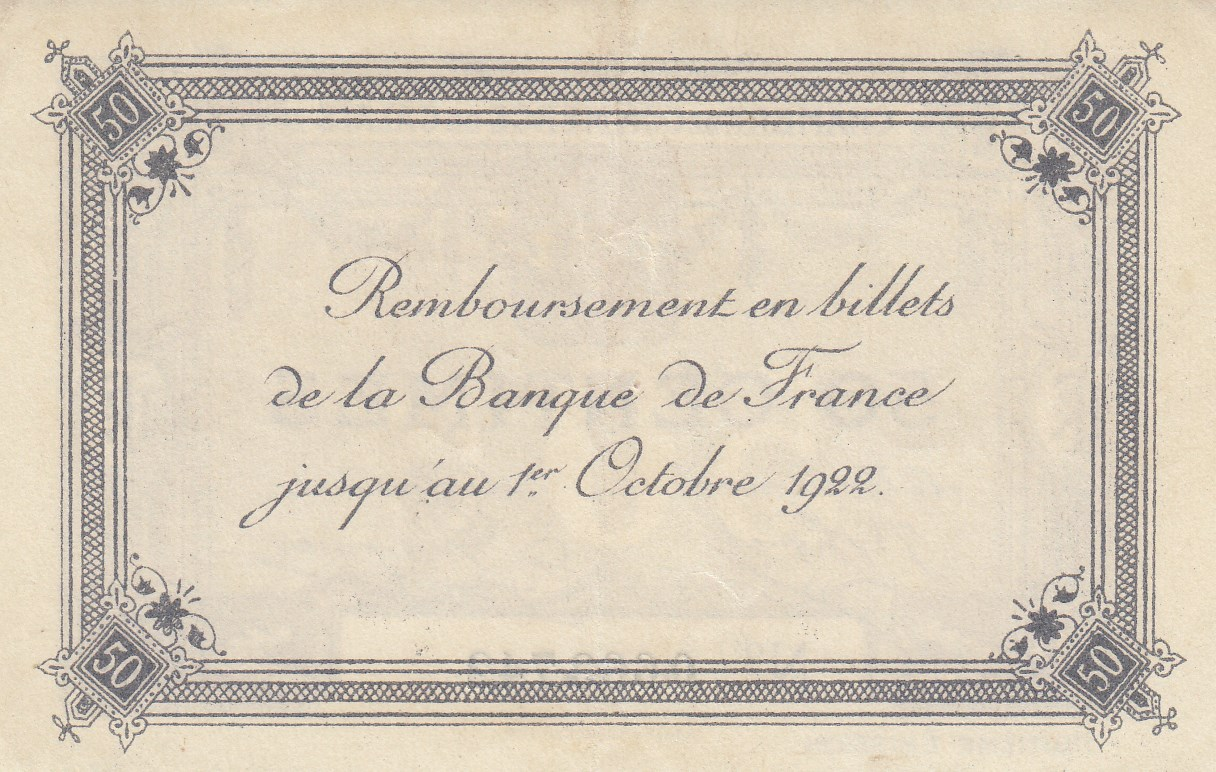 Chambre de commerce and local emergency banknotes from france during the great war navona - Chambre de commerce chateauroux ...