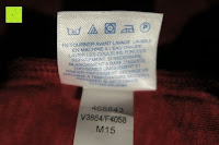 Waschsymbole: Lands' End - Baumwoll/Viskose-Shirt mit V-Ausschnitt
