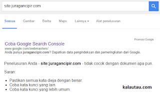 kalautau.com - Juragancipir.com Kena Deindex Google