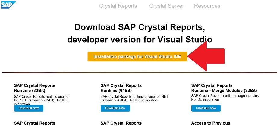 Crystal reports for visual studio 2015 download