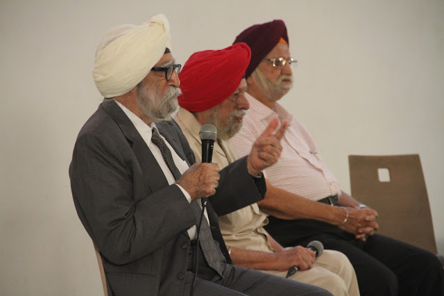 Witnesses of partition sharing their experience at Godrej India Culture Lab