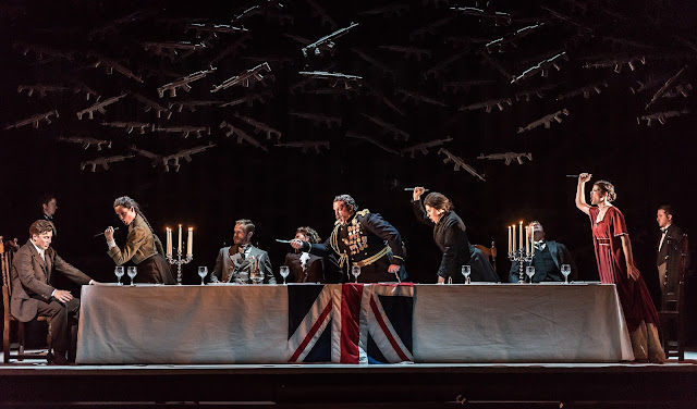 Owen Wingrave -  British Youth Opera at the Peacock Theatre. The Dinner Scene. Photo: Clive Barda/ArenaPAL
