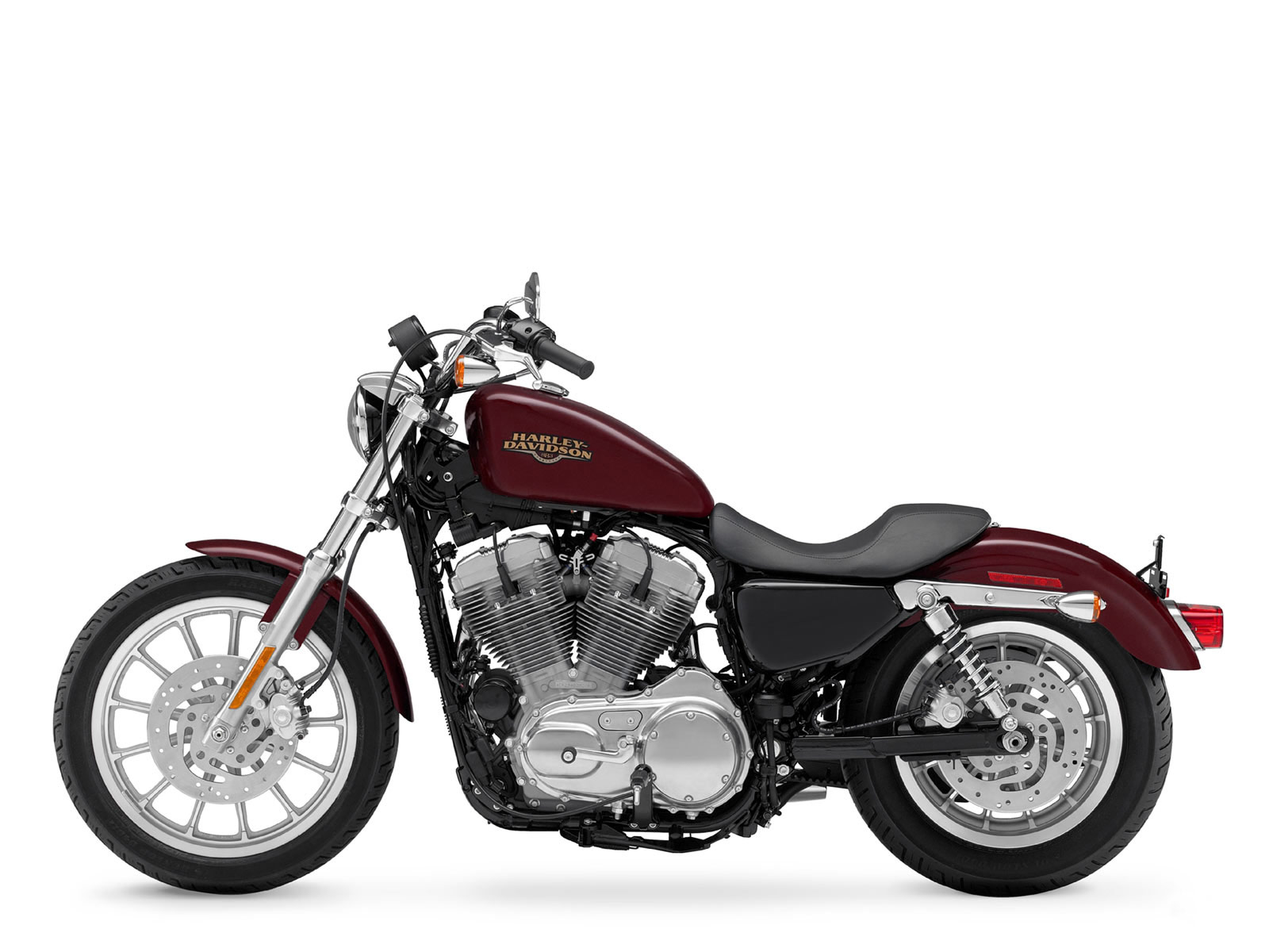 2009 Harley-Davidson Sportster Iron 883. The 2009 Harley-Davidson Sportster  Iron 883 was created by combining features from both the Nightster 1200 and  the ...