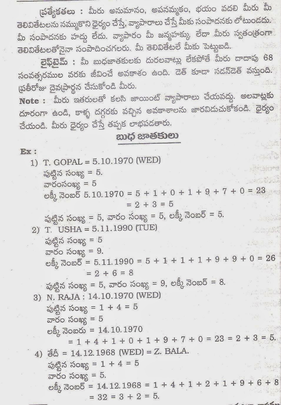 Numerology books in telugu pdf