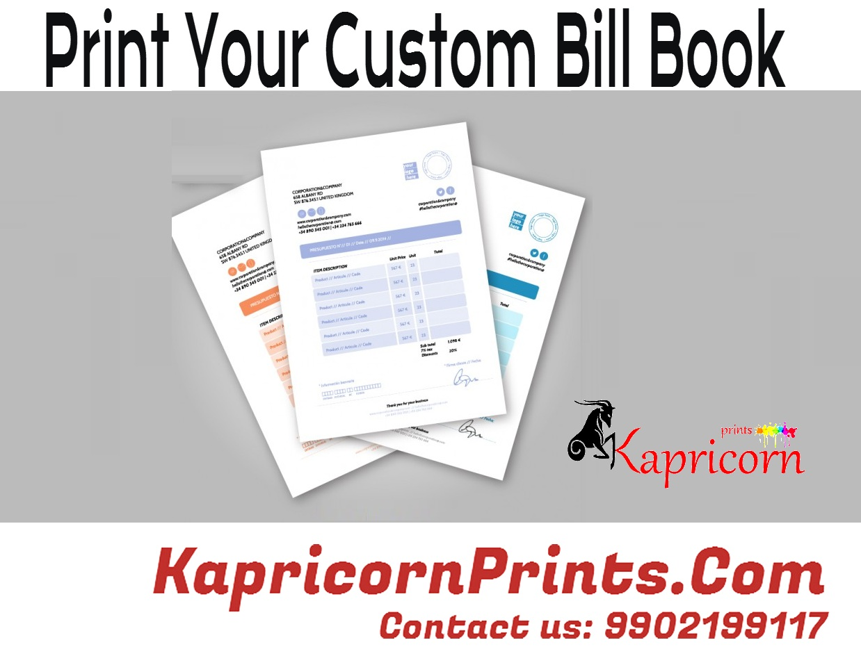 digital printing bangalore letter head bill books invoices