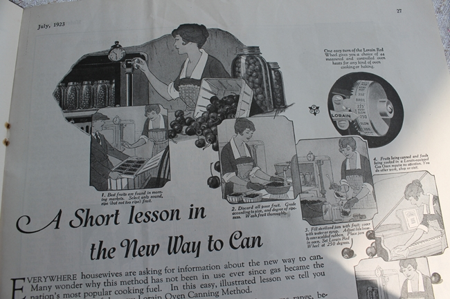 1923 Food Canning Lessons