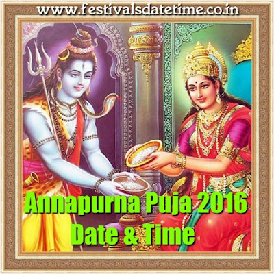 Annapurna Puja 2016 Date & Time in India