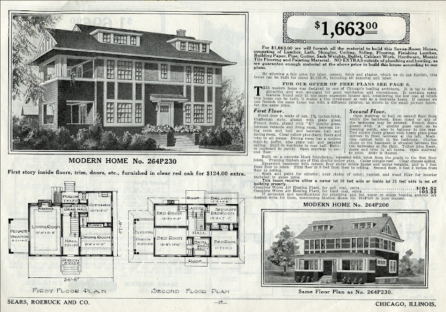 Daily Bungalow's 1916 catalog page of Sears Ivanhoe and No. 200