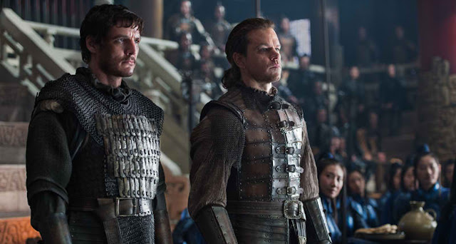 The Great Wall Pedro Pascal and Matt Damon