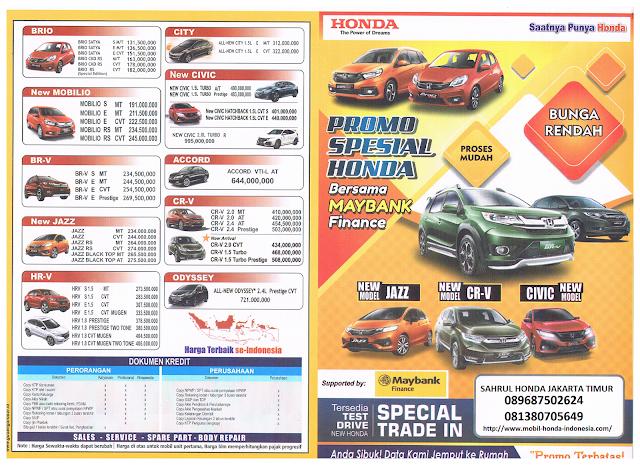brosur mobil honda - harga mobil honda jakarta
