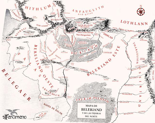 Mapa de la Tierra Media en la Primera Edad