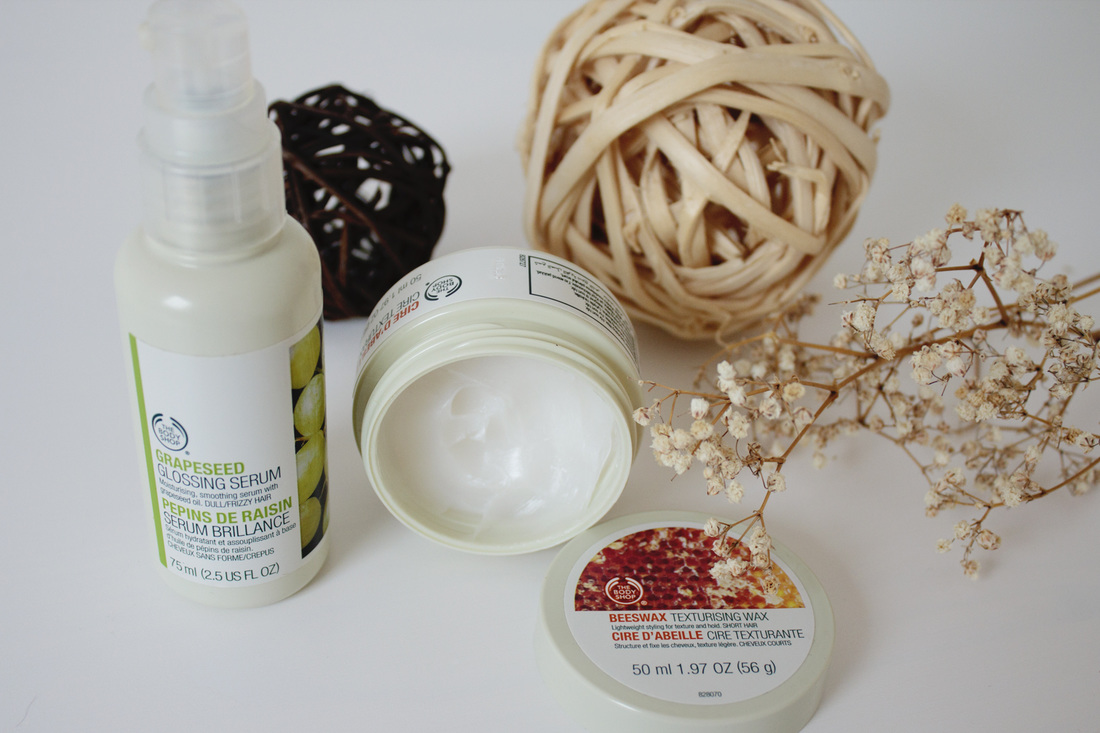 The Body Shop Grapeseed Glossing Serum and Beeswax